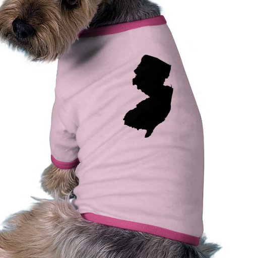 New Jersey State Outline Dog Clothes