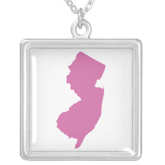 New Jersey State Outline Necklaces