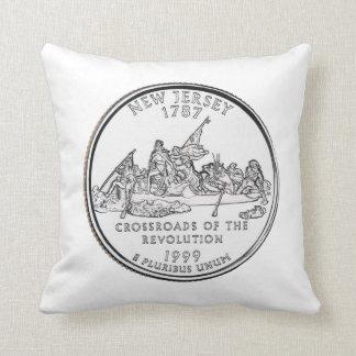New Jersey State Quarter Throw Pillow
