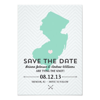 New Jersey State Save the Date 13 Cm X 18 Cm Invitation Card