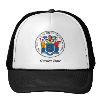 New Jersey State Seal and Motto Cap