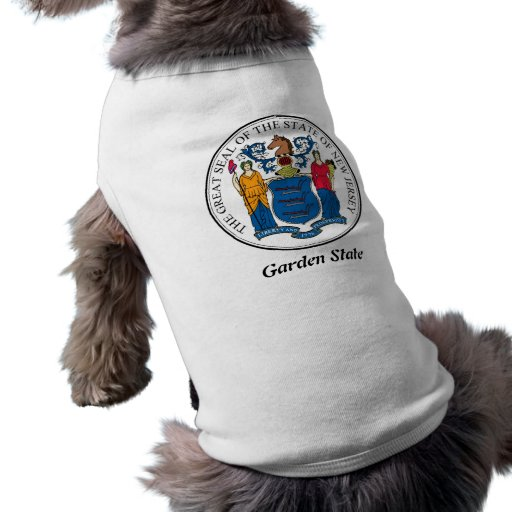 New Jersey State Seal and Motto Doggie Tee Shirt