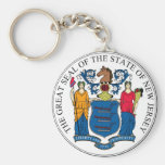 New Jersey State Seal and Motto Key Chains