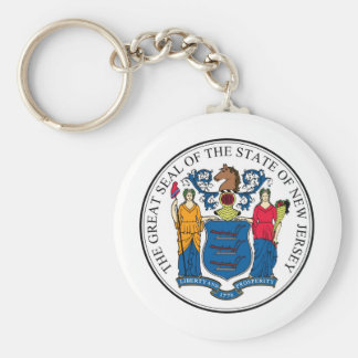 New Jersey State Seal and Motto Key Chain