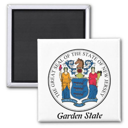 New Jersey State Seal and Motto Refrigerator Magnets