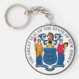 New Jersey State Seal Keychain