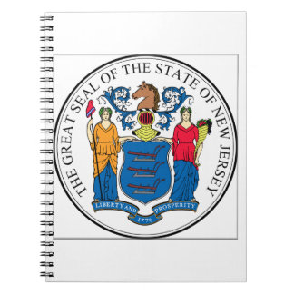 New Jersey State Seal Spiral Notebook