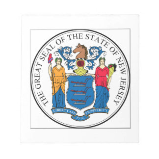 New Jersey State Seal Note Pad