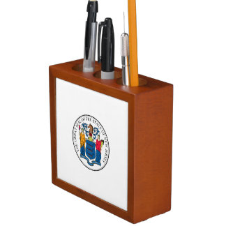 New Jersey State Seal Pencil Holder