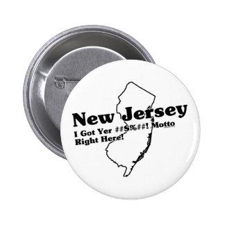 New Jersey State Slogan Pin