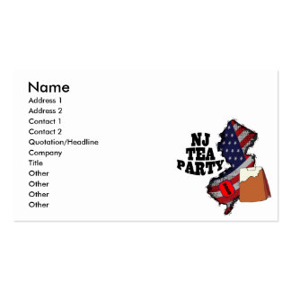 new jersey tea party 2010 business card template