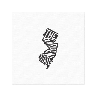 New Jersey: The Garden State Art Gallery Wrap Canvas