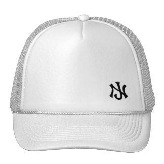 New Jersey trucker all white Cap