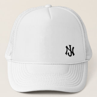 New Jersey trucker all white Trucker Hat