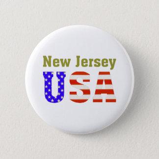 New Jersey USA! 6 Cm Round Badge