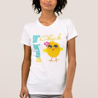 New Jersey USA Chick T-shirt