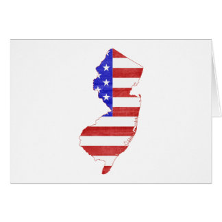 New Jersey USA flag silhouette state map Greeting Card