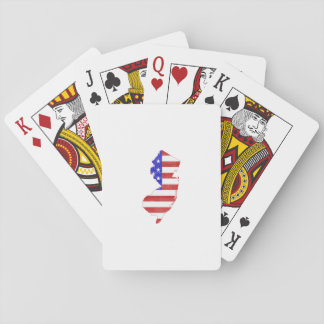 New Jersey USA flag silhouette state map Card Deck