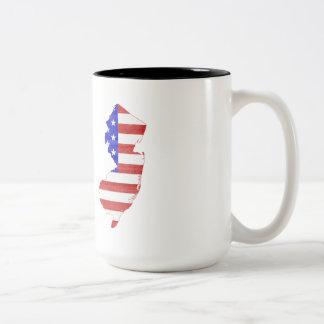 New Jersey USA flag silhouette state map Mug