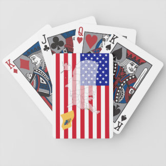 New Jersey-USA State flag map playing cards Bicycle Playing Cards