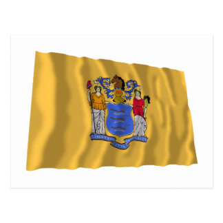New Jersey Waving Flag Post Card