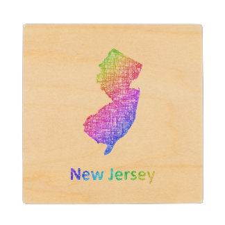 New Jersey Wood Coaster