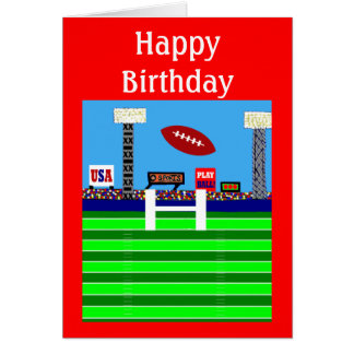 New Kids Football Happy Birthday Party Card Gift