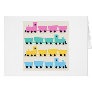 New Kids greeting in Shop : with hand-drawn Train Card