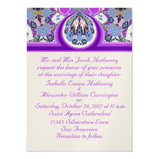 New Lavender & Gold Custom Wedding Invitations