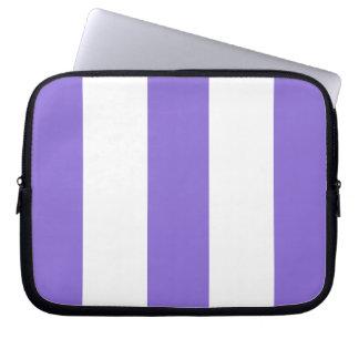 New Lavender & White Stripe Laptop Case Gift