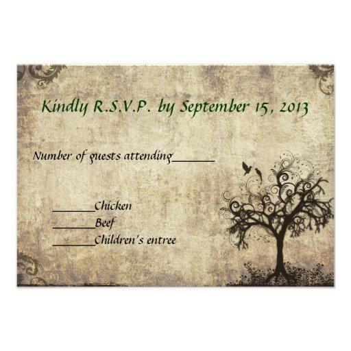 New Life Wedding RSVP Card  Invitation