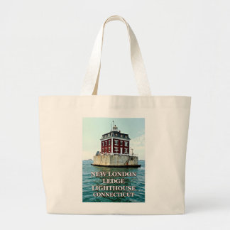 New London Ledge Lighthouse, Connecticut Tote Bag