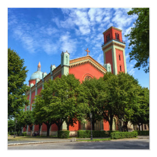 New Lutheran Church in Kezmarok, Slovakia 13 Cm X 13 Cm Square Invitation Card