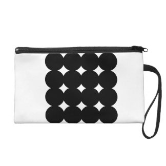 New luxury minimal bag : black and white wristlet clutch