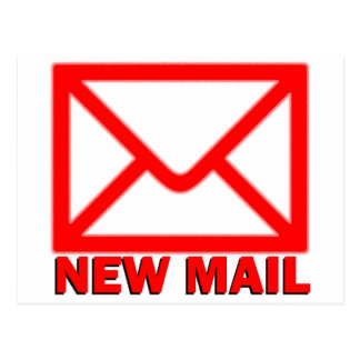 New mail postcard