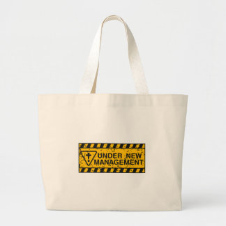 new management large tote bag