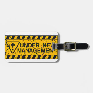 new management luggage tag