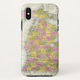 New Map Of Michigan 2 iPhone X Case