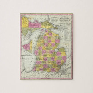 New Map Of Michigan 2 Jigsaw Puzzle