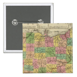 New Map Of Ohio 2 15 Cm Square Badge