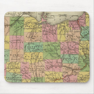 New Map Of Ohio 2 Mouse Pad