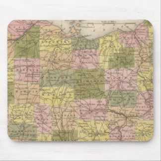 New Map Of Ohio Mouse Pad