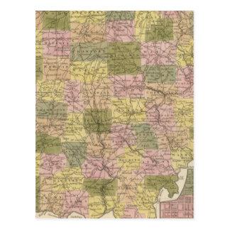 New Map Of Ohio Postcard