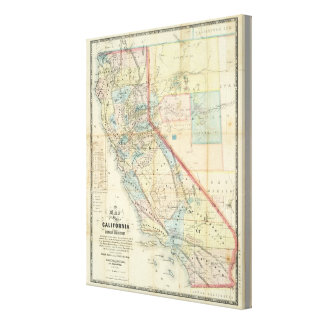 New Map of the State of California Canvas Print