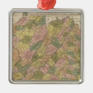 New Map Of Virginia Metal Ornament