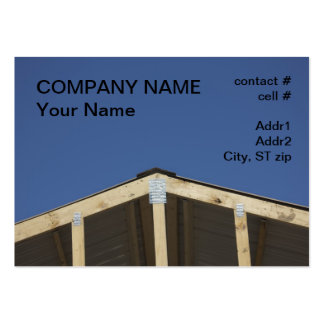 new metal roof construction business card