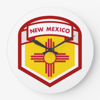 NEW MEXICIO STATE FLAG zazzle Large Clock