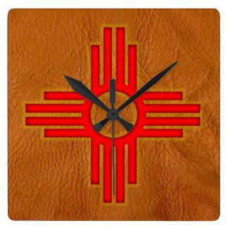 "New Mexico 10.75"" Square Wall Clock"
