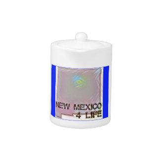 """New Mexico 4 Life"" State Map Pride Design"