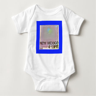 """New Mexico 4 Life"" State Map Pride Design Baby Bodysuit"